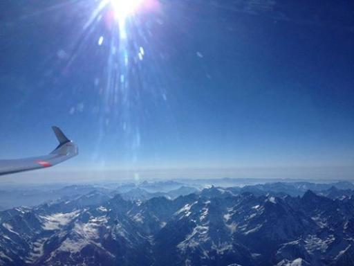 38  Enjoying the view at 6000m above the Alps