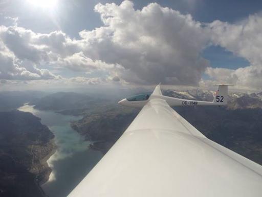 35  Cross country gliding in the Alps near Lac de Serre Ponçon