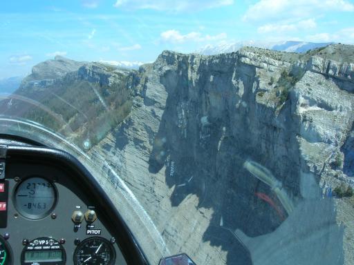 Rotswand de Coupe nabij Vinon